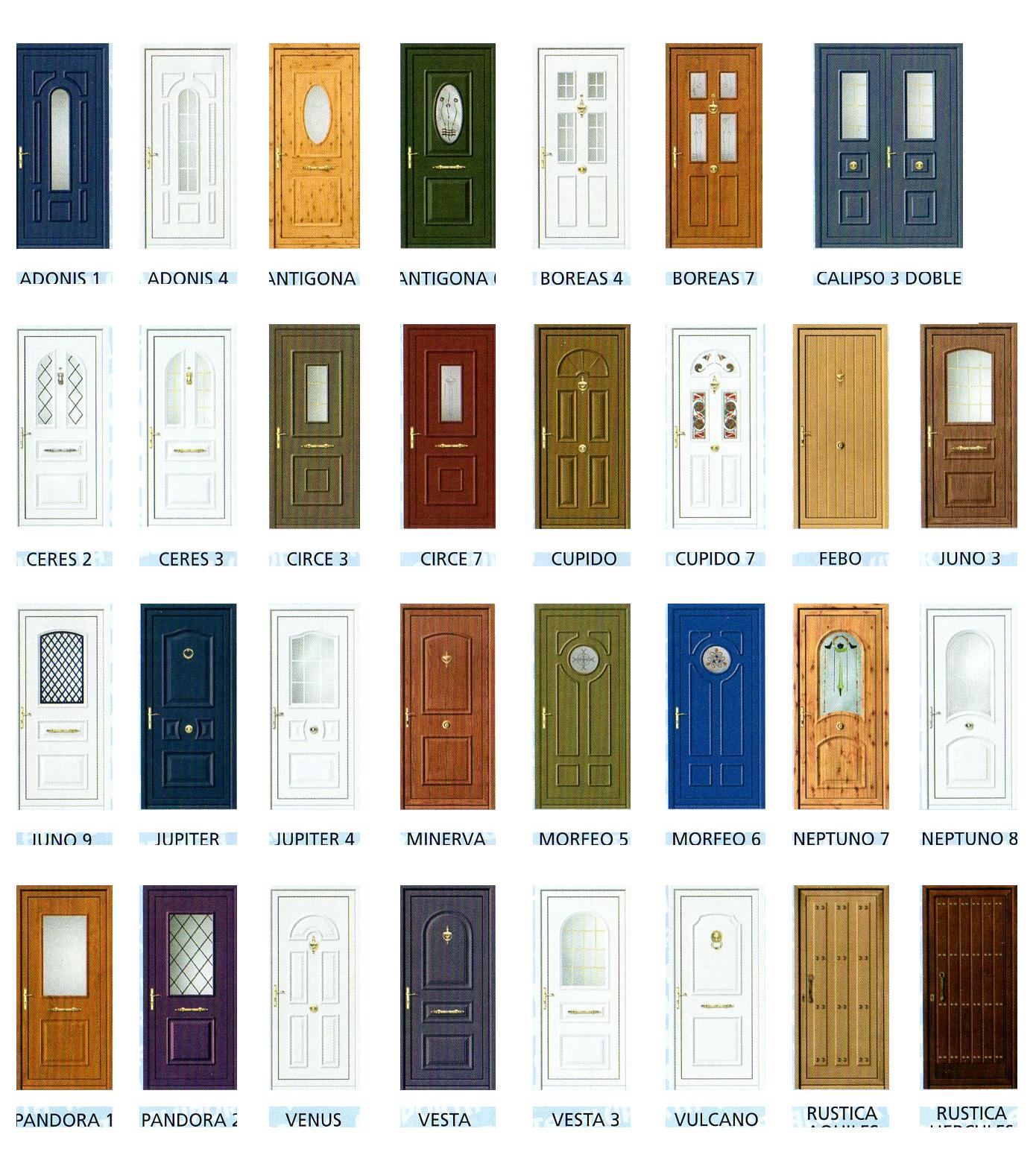 Puertas de aluminio y cerramientos catalogo puertas de for Puertas madera interiores catalogo